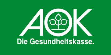 Logo der AOK Gesundheitskasse